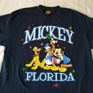 Mickey Unlimited Jerry Leigh Florida Blue Shirt L